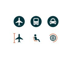 Romualdo Faura / Air Europa magazine #pictogram #icon #picto #plane #symbol #airport