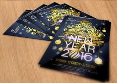 Free New Year Flyer Template for 2016