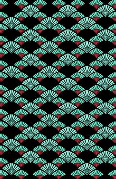 """Turquoise Night"" #Japanese #pattern #design #decor #home #curtains #pillows #turquoise"