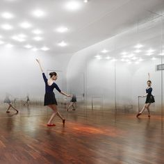 Anzas dance studio by yoshimasa tsutsumi #ceiling #lights #dance #dots #lighting