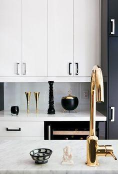 designtraveller #gold #kitchen #white #black