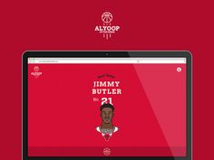 Alyoop of the Week #flat #vector #page #ux #web #one #nba #basketball