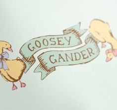 Goosey Gander on Behance #illustration #branding #identity #kids #children