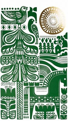Sanna Annukka Illustration – Illustration inspiration on MONOmoda #pattern #green