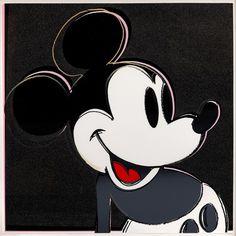 Andy Warhol - Mickey Mouse #andy #mickey #mouse #museum #board #screenprint #warhol #on #disney #lenox #art