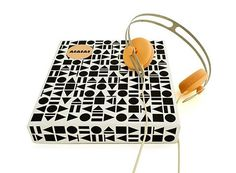 FFFFOUND! #pattern #white #packaging #cream #orange #black #headphones #and