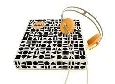 FFFFOUND! #pattern #white #packaging #cream #orange #black #headphones #and