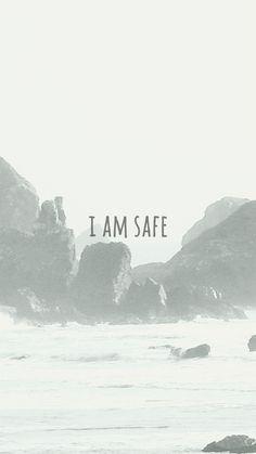 I AM SAFE poster #inspiration #fonts #photography