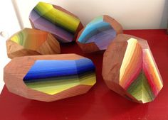 Victoria Wagner | PICDIT #wood #sculpture #color #art