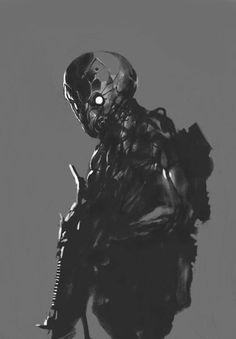 OTAKU GANGSTA #grayscale #war #robot
