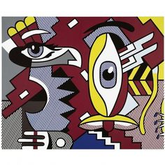 09-01-27-roy-lichtenstein-two-figures-indian-sothebys.jpg 650×650 pixels #print #colours #art #pop
