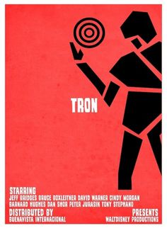 Tron VS. Saul Bass on the Behance Network #game #retro #tron