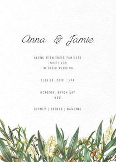 A Bouquet - Wedding Invitations #paperlust #weddinginvitation #weddinginspiration #cards #paper #design #digitalcard