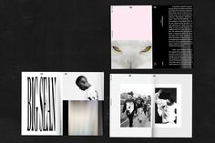 #editorial #guide #book #layout #pink #black