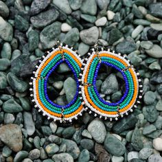 Lou Bead Earring Tribal jewelry, earrings, multi #beads #earrings #jewelry