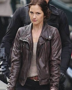 Minka Kelly Almost Human Leather Jacket (5)