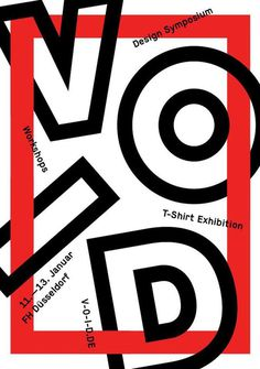 http://www.v o i d.de/ #event #design #workshop #poster #typography