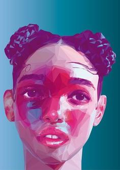 FKA Twigs - Low Poly High Poly Portrait
