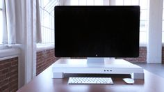 UNITI Stand: For iMacs & Apple Displays. Organize your Workspace #tech #flow #gadget #gift #ideas #cool