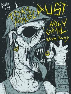 FYI Monday Brunofsky Toxic Holocaust Gig Poster #poster #gig poster