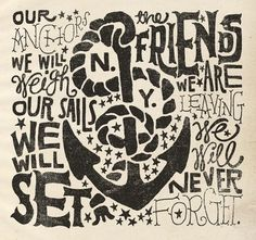 Anchors Aweigh Art Print by Jon Contino | Society6 #type #jon #contino