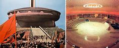 Dark Roasted Blend: Abandoned Communist Party Headquarters in Bulgaria #architecture #amphitheatre
