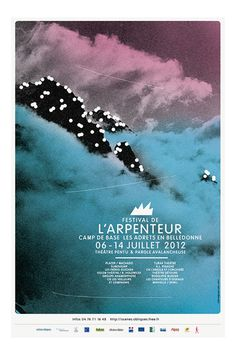 Harmonious mountains across a beautiful poster designed by French Trio BrestBrestBrest #brestbrestbrest #design #graphic #poster #mountains