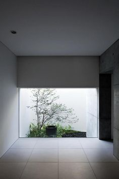 Residential construction, Hyogo, Japan _ Bang the first interactive platform for architectural design reading #courtyards #white #interiors #architecture #green