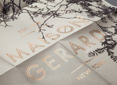 MAISON GERARD #close #up #poster #foil #typography