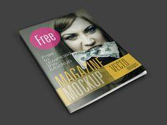 Free Simple Magazine Mockup