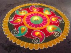 Diya Rangoli Diya Rangoli Designs Of Rangoli For Diwali