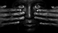 Taong Grasa by black08ice #photography #black and white #skin #human #beauty #shadow #hands #fingers #eyes #face #portrait #conceal #diversi