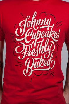 Johnny Cupcakes / Shop Details #chris #lettering #delorenzo #t #james #edmondson