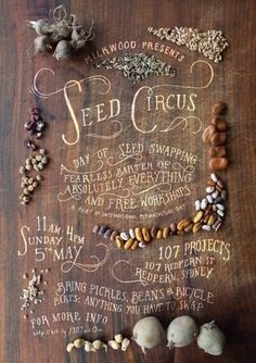 Seed Circus #type #layout #lettering #food