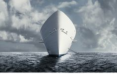 epic on the Behance Network #ocean #faded #clouds #white #water #skys #ship #blue #dull