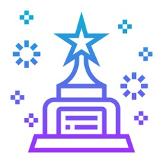 See more icon inspiration related to prize, champion, win, star, cup, sports and competition, winner, award and trophy on Flaticon.