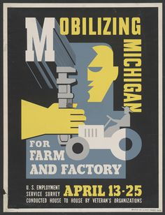"On view now in the Scott Galleries: ""Maurice Merlin and the American Scene, 1930–1947""image captions:1. Maurice Merlin, Black Legion W #design #graphic #vintage #poster"