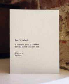 Dear blank, please blank | iGNANT #card #text #funny