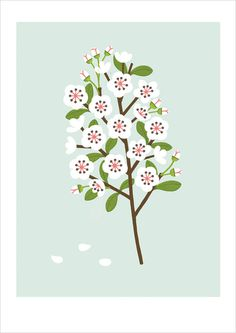 Etsy Finds: Sarah Abbot / on Design Work Life #flower #illustration