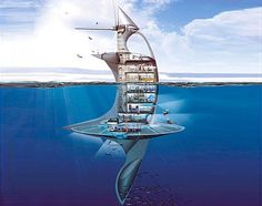 The SeaOrbiter: Futuristic Marine Research Vessel #sea #seaorbiter #boat #eco