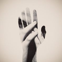 FFFFOUND! | DOUBLE EXPOSURE PORTRAITS on the Behance Network #hands