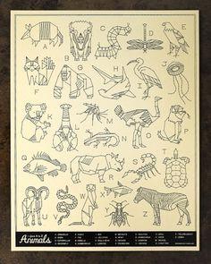 Neighborhood Studio: Animals A-Z | Colossal #animals #print #illustration