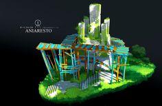 ArtStation - Aniaresto: Big Watchtower, Espen Sætervik #concept #art