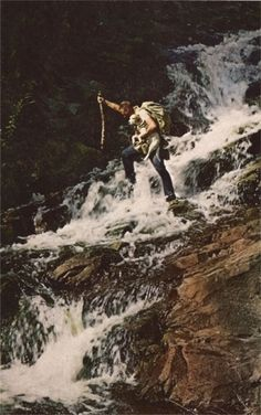 Google Reader #spear #man #waterfall #dog