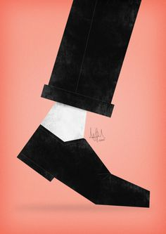 Tribute art to MJ | by Artisto #vector #mj #design #shoe #jackson #tribute #step #art #moonwalk #michael