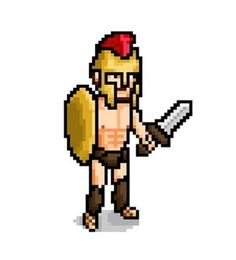 Alvaro Fernandez - Krop Creative Database #warrior #pixel