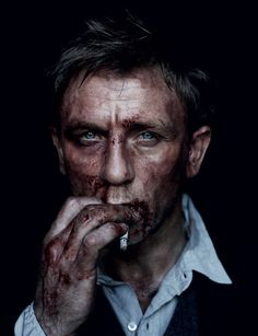 Daniel Craig at his bloody rugged best. #fashion #mens
