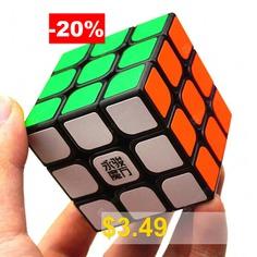 YJ #3 #x #3 #x #3 #Speed #Smooth #Magic #Cube #Finger #Puzzle #Fidget #Toy #- #BLACK