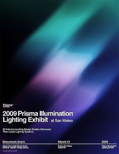 2009 Prisma Illumination Lighting Exhibit Poster | Flickr - Photo Sharing! #swiss #legacy #grid #poster #helvetica