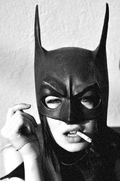FFFFOUND! | Tumblr #batwoman #model #girl #photo #cigarette #blackandwhite